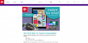 Dirt Devil Back To Campus Sweepstakes