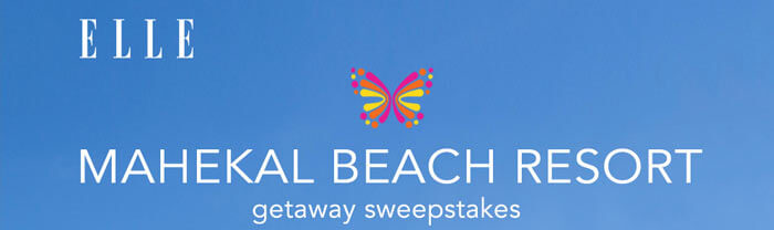 ELLE.com Mahekal Beach Resort Sweepstakes