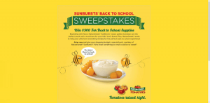 Sunbursts Back To School Sweepstakes