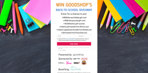 Goodshop's Back to School Giveaway