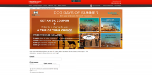 Hotels.com Dog Days of Summer Sweepstakes