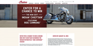 Indian Motorcycle 2017 Chieftain Sweepstakes