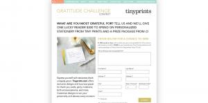 O The Oprah Magazine Gratitude Challenge Contest