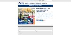 Purex Camping Gear Sweepstakes