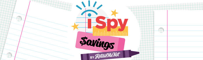 RetailMeNot iSpy Savings Sweepstakes