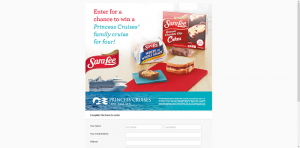 Sara Lee Snacks Princess Cruises Sweepstakes