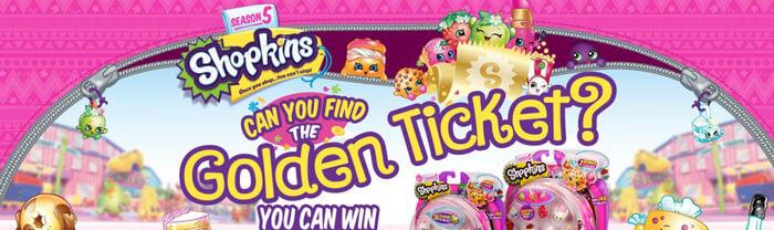 shopkinsworld.com/goldentickethunt - Shopkins Season 5 Golden Ticket Hunt