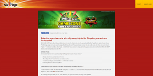 Six Flags MIKE AND IKE Game Zone Sweepstakes
