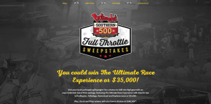Bojangles' Southern 500 Full Throttle Sweepstakes