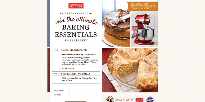 America's Test Kitchen Ultimate Baking Essentials Sweepstakes