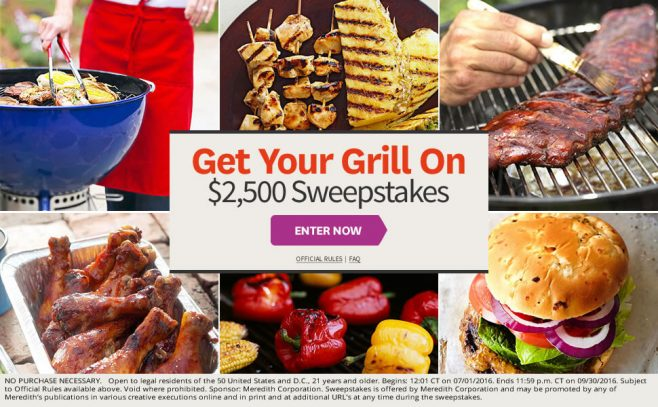 BHG Get Your Grill On $2,500 Sweepstakes
