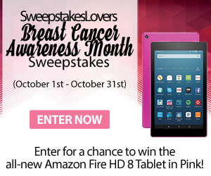 SweepstakesLovers Breast Cancer Awareness Month Sweepstakes