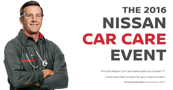 CarCareEvent.NissanUSA.com - Nissan Car Care Event Sweepstakes 2016
