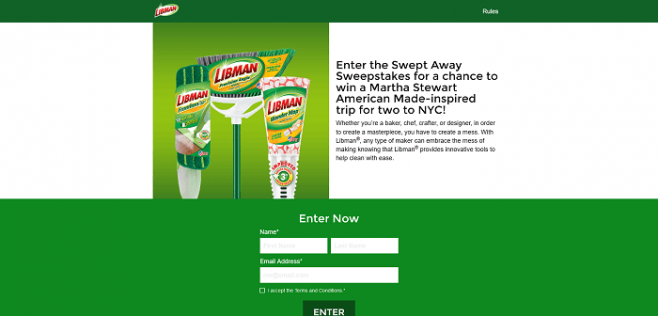 Libman Get Swept Away Sweepstakes