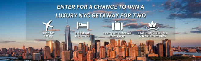Travel + Leisure Luxury NYC Getaway Sweepstakes