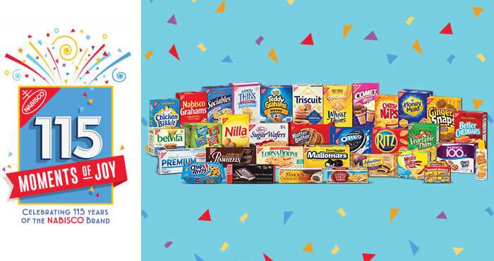 Nabisco115Moments.com - Nasbisco 115 Moments Of Joy Sweepstakes