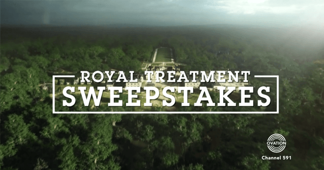 OvationTV.com/Versailles - Royal Treatment Sweepstakes