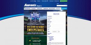 Aaron's Big Score Getaway Sweepstakes