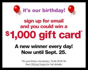 T.J. Maxx Flash Birthday Bash Sweepstakes