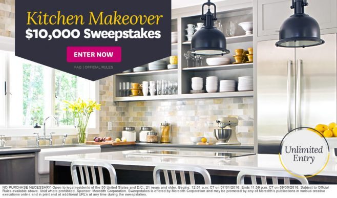 The BHG Kitchen Makeover $10,000 Sweepstakes