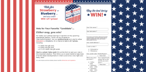 California Giant Berry Farms Red State or Blue State Sweepstakes