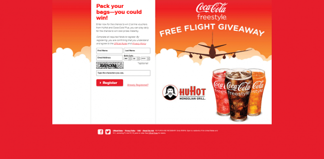 HuHot & Coca-Cola Free Flight Giveaway