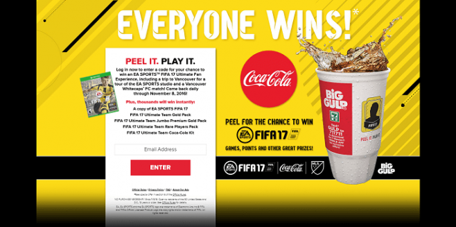 Coca-Cola and 7-Eleven EA SPORTS Instant Win Game