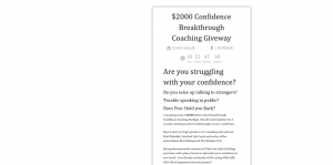$2000 Confidence Breakthrough Coaching Giveway