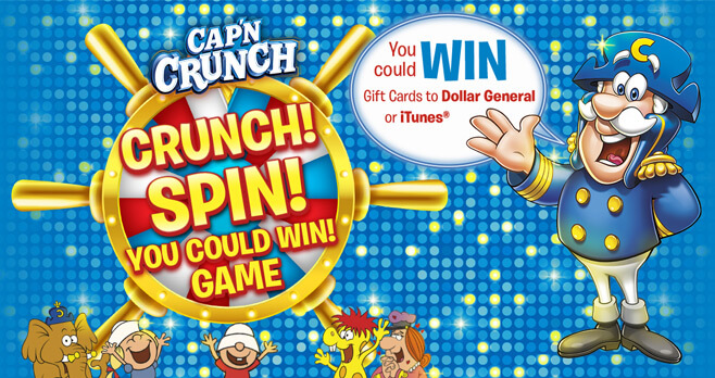 Cap'n Crunch Spin To Win Game 2017