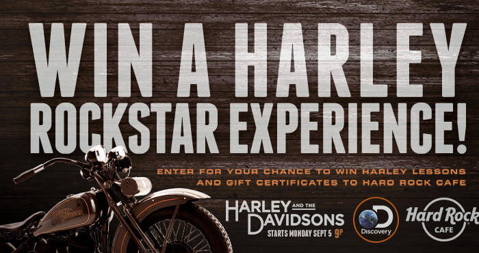 Discovery.com/HardRockSweeps - Discovery Harley And The Davidsons Hard Rock Café Sweepstakes