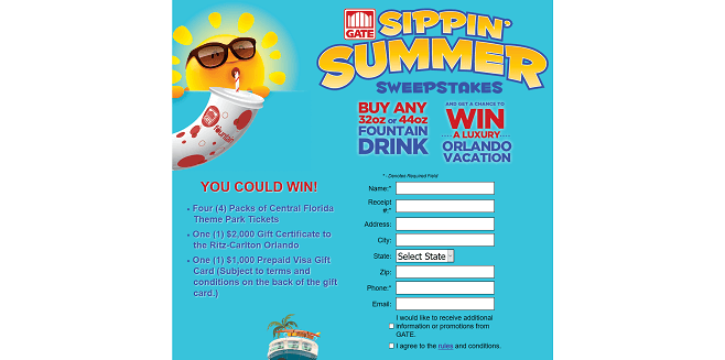 Gate Sippin' Summer Sweepstakes