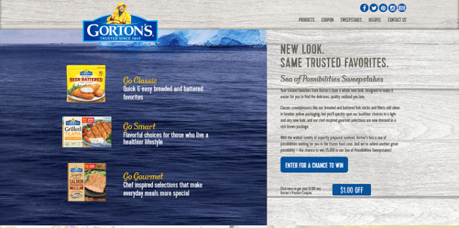 Gorton's Sea of Possibilities Sweepstakes