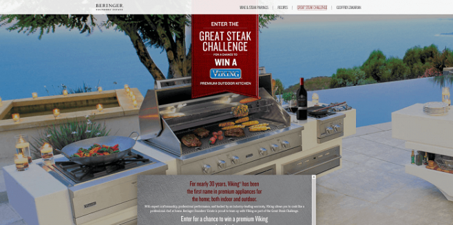 Beringer Founders' Estate Great Steak Challenge Sweepstakes