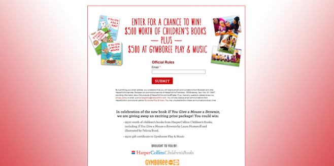 HarperCollins / Gymboree Sweepstakes
