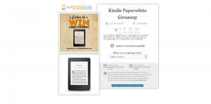 JustKindleBooks.com Kindle Paperwhite Giveaway