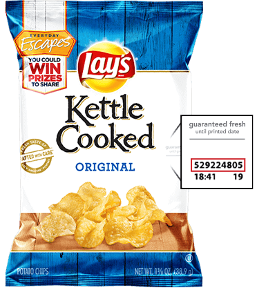 lays kettle cooked bag code