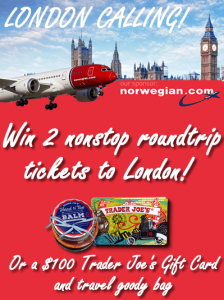 Trader's Joe Fan London Calling Sweepstakes