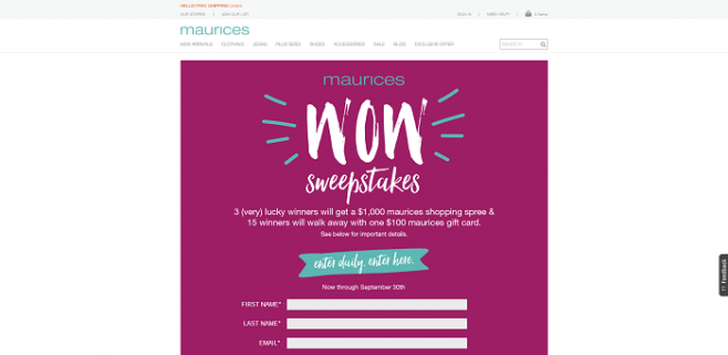 Maurices Wow Sweepstakes