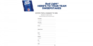 Bud Light Here's to Your Team Sweepstakes