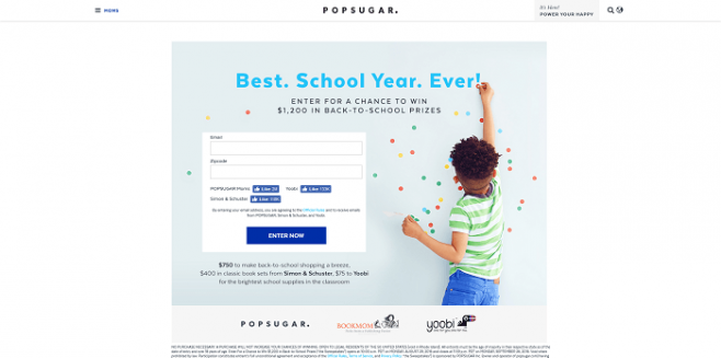 PopSugar Back-to-School Sweepstakes