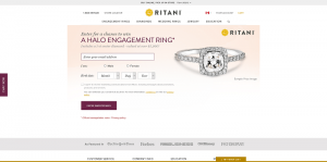 Ritani Halo Engagement Ring Sweepstakes