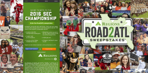 2016 Regions Bank #road2ATLsweepstakes