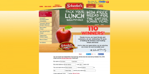 Schwebel's Pack Your Lunch Sweepstakes