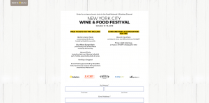 Kitchn Food Network & Cooking Channel New York City Wine & Food Festival Sweepstakes