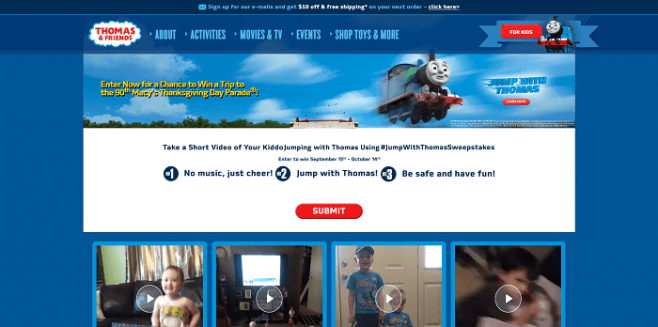 Jump With Thomas Sweepstakes