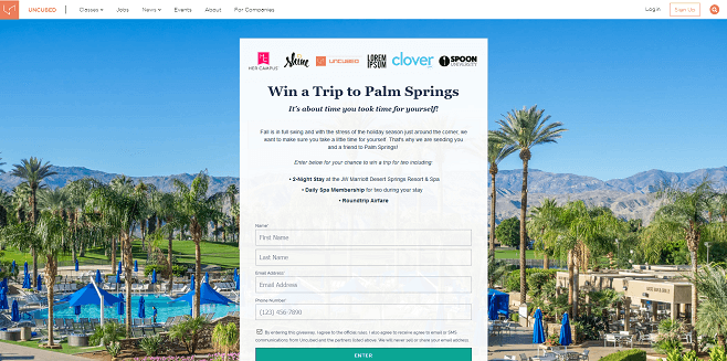 Uncubed Palm Springs Giveaway