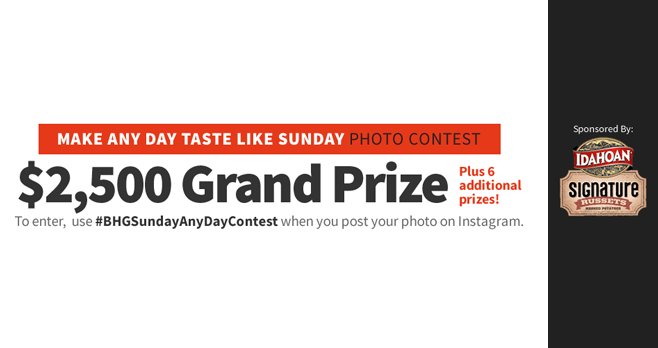 BHG Sunday Any Day Contest 2016
