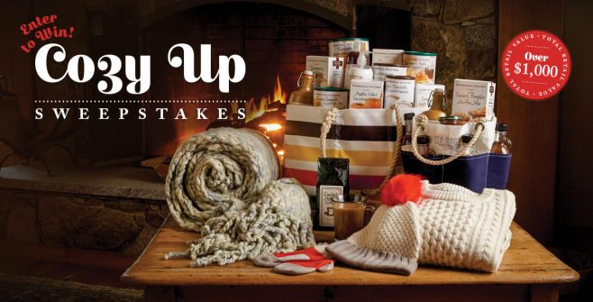 Stonewall Kitchen Cozy Up Sweepstakes