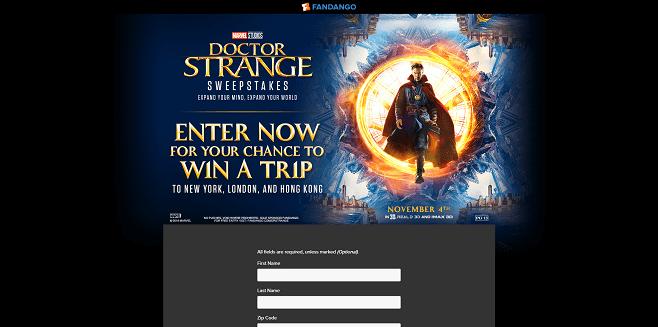 Fandango Doctor Strange Sweepstakes