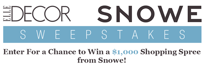 ELLE Decor Snowe Home Sweepstakes (ElleDecor.com/SnoweHome)